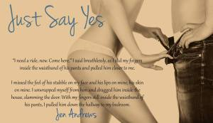 just say yes teaser 2