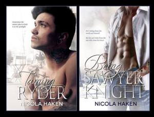 double book cover taming ryder